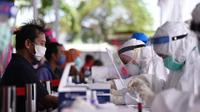 Badan Intelijen Negara (BIN) kembali melanjutkan rangkaian rapid test massal di Surabaya, Jawa Timur. (Istimewa)