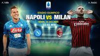Prediksi banner Napoli vs AC Milan. (Triyasni)