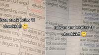 Tulisan rapi siswa SMA kelas 11 ini bikin takjub netizen karena seperti ketikan. (Sumber: TikTok/@rigina6_)