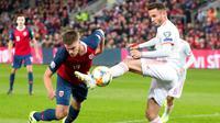 Norwegia vs Spanyol. (Terje Pedersen/NTB scanpix via AP)