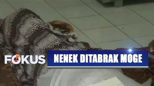 Seorang nenek tewas tertabrak motor gede saat menyebrang bersama cucu yang hendak berolahraga di seputaran Istana Bogor.