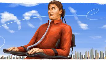 Google Doodle Tanda Penghormatan Ulang Tahun Christopher Reeve Sang Aktor 'Superman'