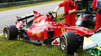 Fernando Alonso dan Kimi Raikkonen terlibat kecelakaan mengerikan di GP Austria yang berlangsung di Sirkuit Red Bull Ring.