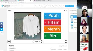 Pembelajaran jarak jauh pelajaran Bahasa Indonesia oleh KBRI Phnom Penh secara virtual.