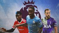 Premier League - Paul Pogba, Raheem Sterling, Harry Kane (Bola.com/Adreanus Titus)