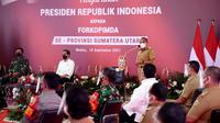 Gubernur Sumut, Edy Rahmayadi, laporkan kasus Covid-19 kepada Presiden Jokowi