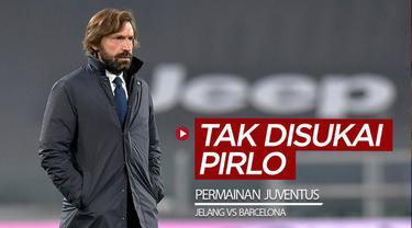 Berita video jelang laga melawan Barcelona di Liga Champions, Pelatih Andrea Pirlo mengungkapkan permainan yang tidak disukainya dari Juventus.