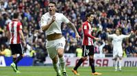 James Rodriguez kerap menjadi penyelamat bagi Real Madrid (AFP/Gerard Julien)