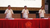 Ketua Umum PB Forki, Panglima TNI Marsekal Hadi Tjahjanto S.Ip (tengah) saat memimpin rapat pleno di Jakarta (istimewa)