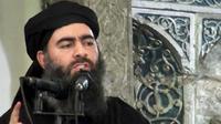 Pemimpin ISIS Abu Bakr al-Baghdadi dikabarkan menderita luka serius setelah serangan militer Rusia 28 Mei 2017. Padahal sebelumnya, ia telah dinyatakan tewas oleh Kementerian Pertahanan Rusia. (AP)