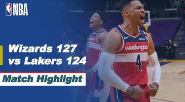 Berita Video Highligts NBA, Washington Wizards Kalahkan LA Lakers 127-124