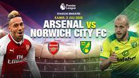 Banner Arsenal vs Norwich City. (Triyasni)