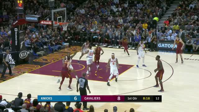 Berita video game recap NBA 2017-2018 antara New York Knicks melawan Cleveland Cavaliers dengan skor 110-98.