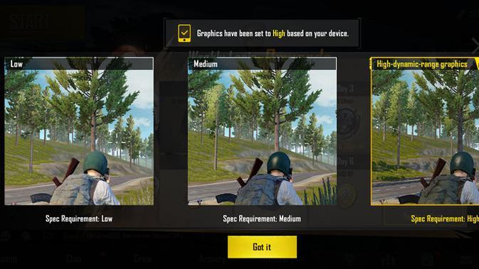 Grafis PUBG Mobile di Realme X (Foto: Liputan6.com)
