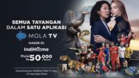 IndiHome berkolaborasi bersama Mola TV menghadirkan Mola TV App pada IndiHome TV yang memiliki beragam tayangan menarik yaitu Sports, Movies, Kids, dan Living.