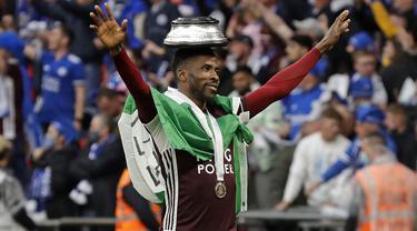 Pemain Leicester City, Kelechi Iheanacho merupakan penyerang berkebangsaan Nigeria. Ia tampil gemilang dan mampu bawa The Foxes juarai FA Cup musim lalu. Pemain 24 tahun ini telah mencatatkan 19 gol dan 5 assit dari 45 penamilannya. (Foto: AFP/Pool/Kirsty Wigglesworth)