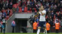 Harry Kane menjadi striker tersubur kalahkan Messi dan Ronaldo (AP Photo/Alastair Grant)