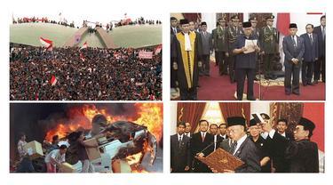 Banner Infografis Kilas Balik Reformasi Mei 1998. (Foto: Dok. Wikipedia, Liputan6.com/Trieyasni)