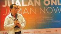 Direktur Utama LPDB-KUMKM Braman Setyo saat workshop 'Jualan Online Jaman Now',