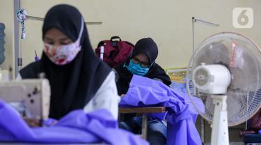 Balai Latihan Kerja (BLK) Kota Tangerang Produksi Baju Hazmat untuk Tenaga Medis yang merawat pasien corona covid-19.