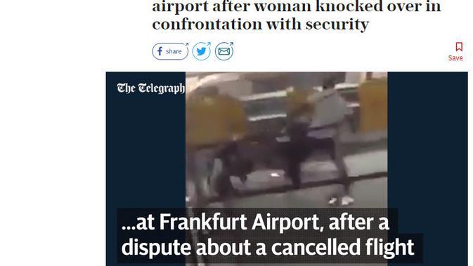[Cek Fakta] Pria Serang Polisi karena Paksa Lepas Hijab Istrinya, Benarkah? (enshot/The Telegraph)