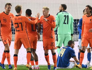 Belanda Tahan Imbang Italia di UEFA Nations League