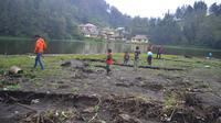 Sedimentasi di Ranupani salah satu danau di Gunung Semeru (Liputan6.com/Zainul Arifin)