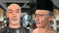 Transformasi Makeup Reza Rahadian Jadi BJ Habibie (Sumber: Instagram/orlandobassi)