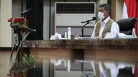 Ketua Satgas COVID-19 Doni Monardo memberi arahan dalam Rapat Koordinasi Penanganan COVID-19 bersama jajaran Provinsi Sumatera Selatan, Kota Palembang, Rabu (5/5/2021). (Tim Komunikasi Satgas COVID-19)
