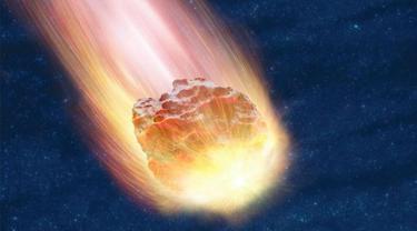 Ilustrasi Meteor (Arfandi Ibrahim/Liputan6.com)