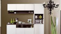 Dengan ruang berdimensi 2 meter saja, Anda bisa menata peralatan masak dan bumbu makanan dalam sebuah dapur minimalis