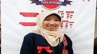 Annisa Octiandari Pertiwi mengidap thalasemia mayor sejak usia 6 bulan. (Foto: Liputan6.com/Fitri Haryanti Harsono)