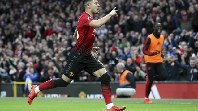 Gelandang Manchester United Mu Andreas Pereira Merayakan Golnya Ke Gawang Southamtpon Dalam Lanjutan Liga Inggris Di Old Trafford Sabtu