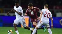 AC Milan bermain 1-1 kontra Torino pada laga pekan ke-33 Serie A di Stadion Olimpico Grande Torino, Rabu (18/4/2018) waktu setempat. (AFP/Miguel Medina)