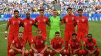 Skuat Timnas Inggris di Piala Dunia 2018. (AFP/Yuri Cortez)