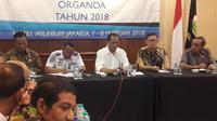 Menteri Perhubungan Budi Karya saat Rapat Pimpinan DPP Organda  di Hotel Milenium Jakarta, Kamis (8/2/2018). (Dok Organda)
