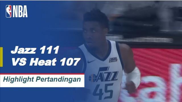 Jazz meniup Heat 111-84 saat Donovan Mitchell memimpin dengan 21 poin dan lima rebound.