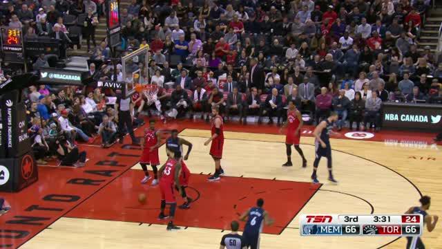 Berita video game recap NBA 2017-2018 antara Toronto Raptors melawan Memphis Grizzlies dengan skor 101-86.