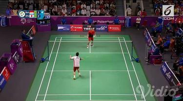 Jonatan Christie berhasil mengalahkan tunggal Jepang dalam semifinal badminton Asian Games 2018.
