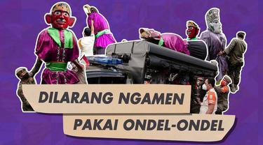 Pemprov DKI Jakarta larang atribut Ondel-Ondel dipakai untuk mengamen.