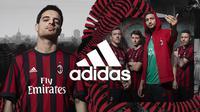 Penampakan jersey anyar AC Milan untuk musim 2016-2017. (AC Milan).