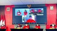 PDIP kembali meresmikan 10 kantor partai secara virtual. (Foto: Istimewa).