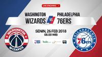 Washington Wizards Vs Philadelphia 76ers (Bola.com/Adreanus Titus)