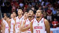 Timnas basket Indonesia pada kualifikasi FIBA Asia Cup. (Dok Perbasi)