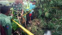 Lokasi ditemukannya jasad korban pembunuhan bocah perempuan SMP kelas III Bodeh Pemalang (Liputan6.com/Fajar Eko Nugroho)
