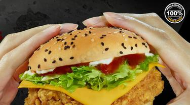 Burger Ayam Goreng