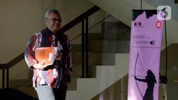 Ketua KPU Arief Budiman usai dimintai keterangan terkait aliran dana suap Wahyu Setiawan di Gedung KPK, Jakarta, Selasa (28/1/2020). Arief diperiksa sebagai saksi untuk tersangka Saeful Bahri terkait dugaan suap penetapan PAW anggota DPR Terpilih 2019-2024. (merdeka.com/Dwi Narwoko)