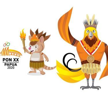 Maskot PON XX