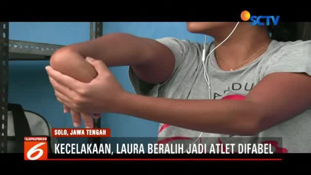 Atlet renang difabel Laura Aurelia Dinda Sekar Devanti akan menjadi salah satu andalan tuan rumah Indonesia di ajang Asian Para Games 2018.