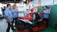 PT Astra Honda Motor (AHM) menggelar kompetisi 10th Astra Honda Skill Contest (AHSC) for Vocational School 2019 (Dian/Liputan6.com)